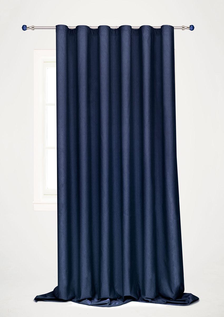 Штора готовая для гостиной Garden, на ленте, цвет: синий, 200 х 260 см. С 536097 V102С 536097 V102Готовая портьерная штора для гостиной Garden выполнена из 100% полиэстера. Богатая текстура материала и изысканная цветовая гамма привлекут к себе внимание и органично впишутся в интерьер помещения. Изделие оснащено шторной лентой для красивой сборки. Штора Garden великолепно украсит любое окно.