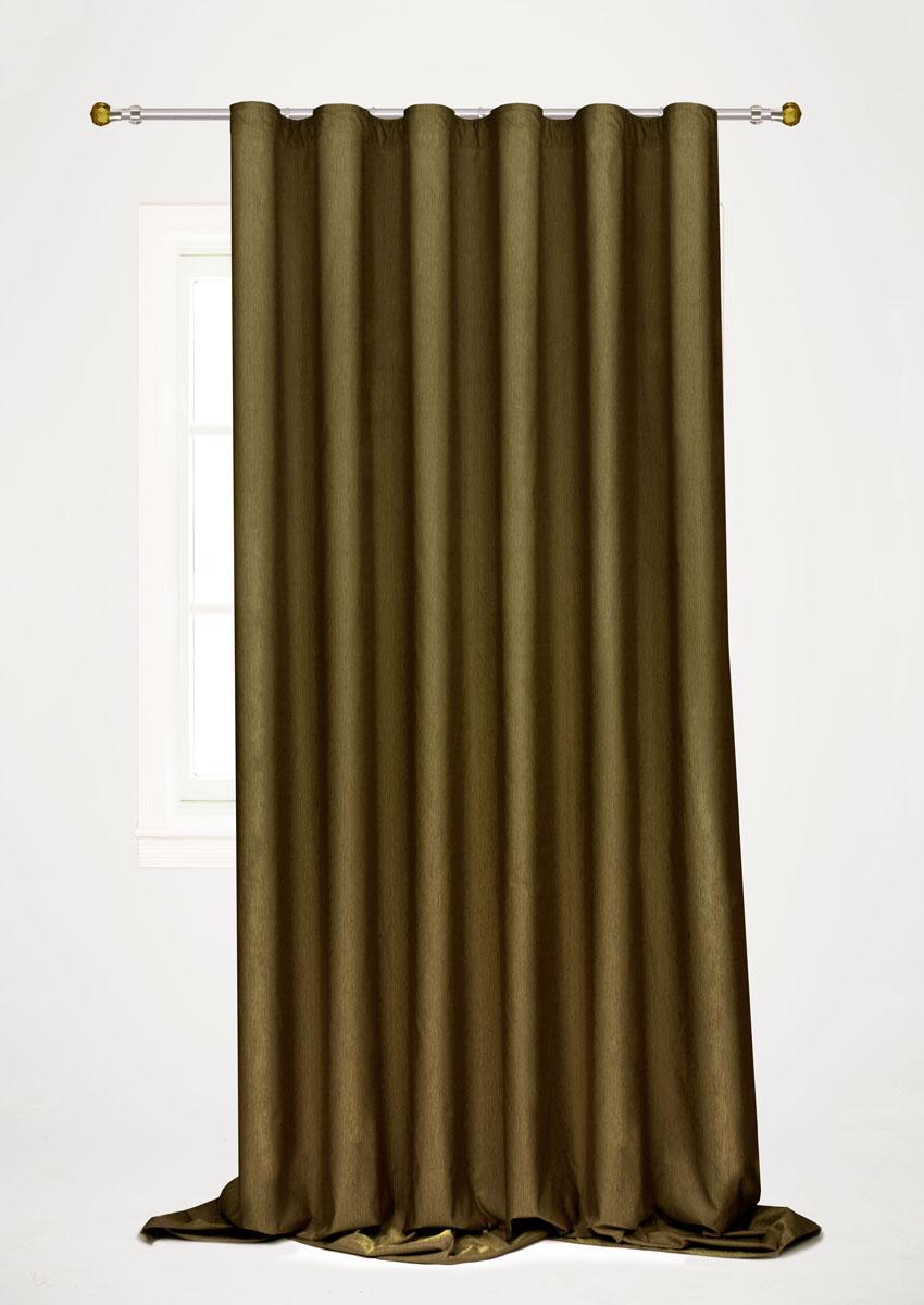 Штора готовая для гостиной Garden, на ленте, цвет: темно-зеленый, 200 х 260 см. С 536097 V60С 536097 V60Готовая портьерная штора для гостиной Garden выполнена из 100% полиэстера. Богатая текстура материала и изысканная цветовая гамма привлекут к себе внимание и органично впишутся в интерьер помещения. Изделие оснащено шторной лентой для красивой сборки. Штора Garden великолепно украсит любое окно.