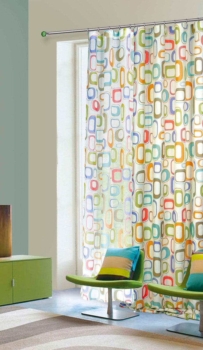 Штора готовая для гостиной Garden, на ленте, цвет: синий, зеленый, размер 145* 260 см. С 7219 - W356 V4С 7219 - W356 V4Тюлевая штора Garden, изготовленная из батиста (полиэстера), станет великолепным украшением любого окна. Воздушная ткань с оригинальным рисунком создаст неповторимую атмосферу в вашем доме. В тюль вшита шторная лента. Шторная лента - специальная тесьма представляет собой каркас для всех видов складок. Внутри нее по всей длине проложены скрученные шнуры. Благодаря ей с драпировкой тюли может справиться даже человек, ничего не смыслящий в этой работе. Штора Garden придает законченность и гармоничность любому интерьеру. Простота модели и практичность ткани обеспечат удобство в эксплуатации и уходе.