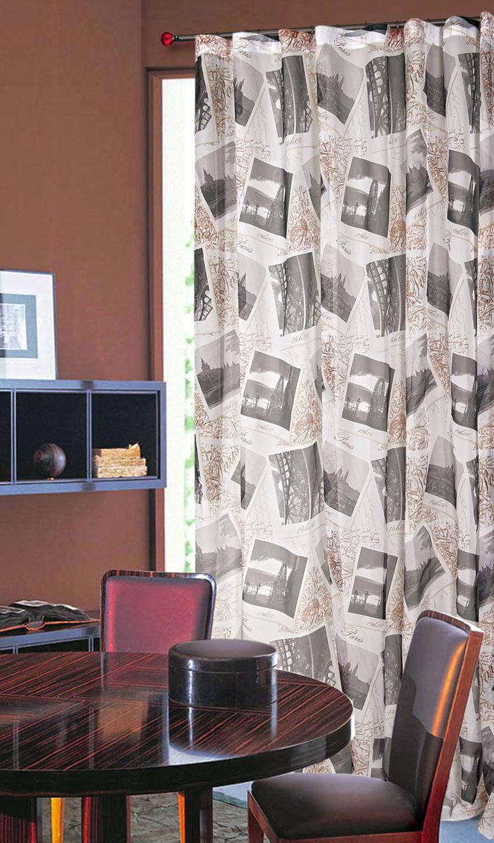 Штора готовая для гостиной Garden, на ленте, цвет: бежевый, размер 300*260 см. С 8166 - W191V5С 8166 - W191 V5Тюлевая штора Garden, изготовленная из вуали (полиэстера), станет великолепным украшением любого окна. Воздушная ткань с оригинальным рисунком создаст неповторимую атмосферу в вашем доме. В тюль вшита шторная лента. Шторная лента - специальная тесьма представляет собой каркас для всех видов складок. Внутри нее по всей длине проложены скрученные шнуры. Благодаря ей с драпировкой тюли может справиться даже человек, ничего не смыслящий в этой работе. Штора Garden придает законченность и гармоничность любому интерьеру. Простота модели и практичность ткани обеспечат удобство в эксплуатации и уходе.