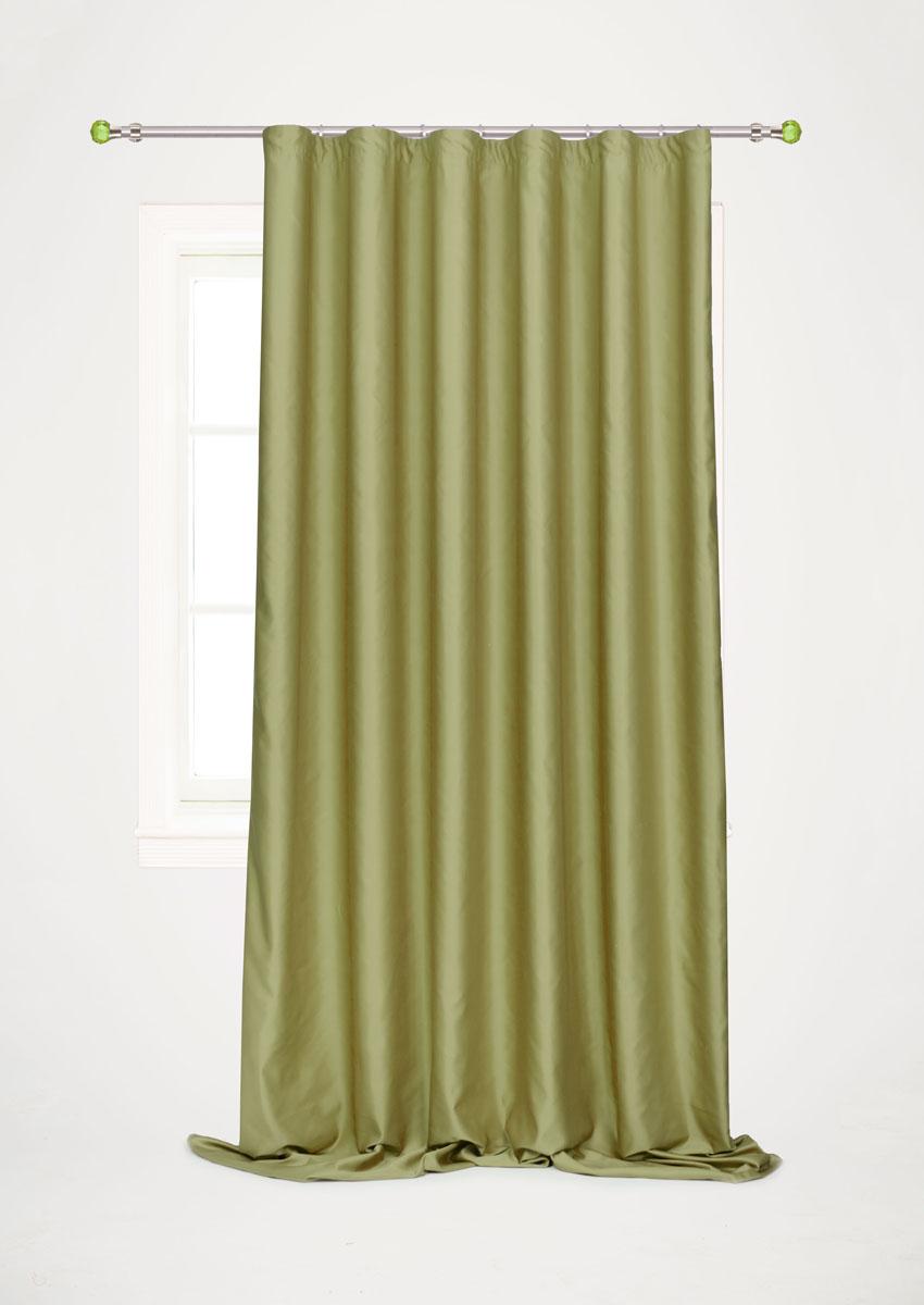 Штора для гостиной Garden, на ленте, цвет: болотный, 200*260 см. С W1223 V73172С W1223 V73172Роскошная штора-портьера Garden выполнена из сатина (100% полиэстера). Материал плотный и мягкий на ощупь. Оригинальная текстура ткани и нежный цвет привлекут к себе внимание и органично впишутся в интерьер помещения. Эта штора будет долгое время радовать вас и вашу семью! Штора крепится на карниз при помощи ленты, которая поможет красиво и равномерно задрапировать верх. Стирка при температуре 30°С.