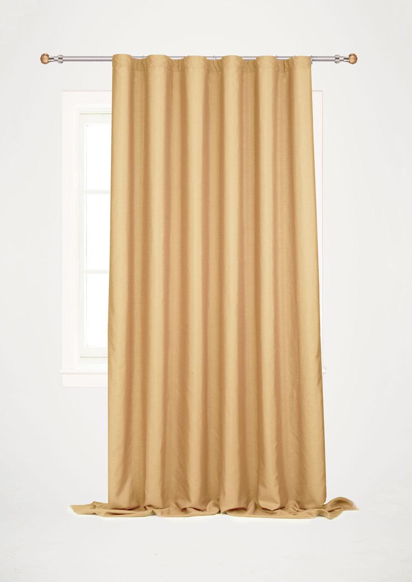 Штора готовая для гостиной Garden, на ленте, цвет: бежевый, размер 200*260 см. С W1687 V71172С W1687 V71172Готовая штора-портьера для гостиной Garden выполнена из плотной ткани репс (полиэстер). Богатая текстура материала и спокойная цветовая гамма украсят любое окно и органично впишутся в интерьер помещения. Изделие оснащено шторной лентой для красивой сборки.
