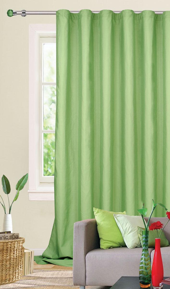 Штора готовая для гостиной Garden, на ленте, цвет: зеленый, 200*260 см. С W1687 V73171С W1687 V73171Готовая штора-портьера для гостиной Garden выполнена из плотной ткани репс (полиэстер). Богатая текстура материала и спокойная цветовая гамма украсят любое окно и органично впишутся в интерьер помещения. Изделие оснащено шторной лентой для красивой сборки.
