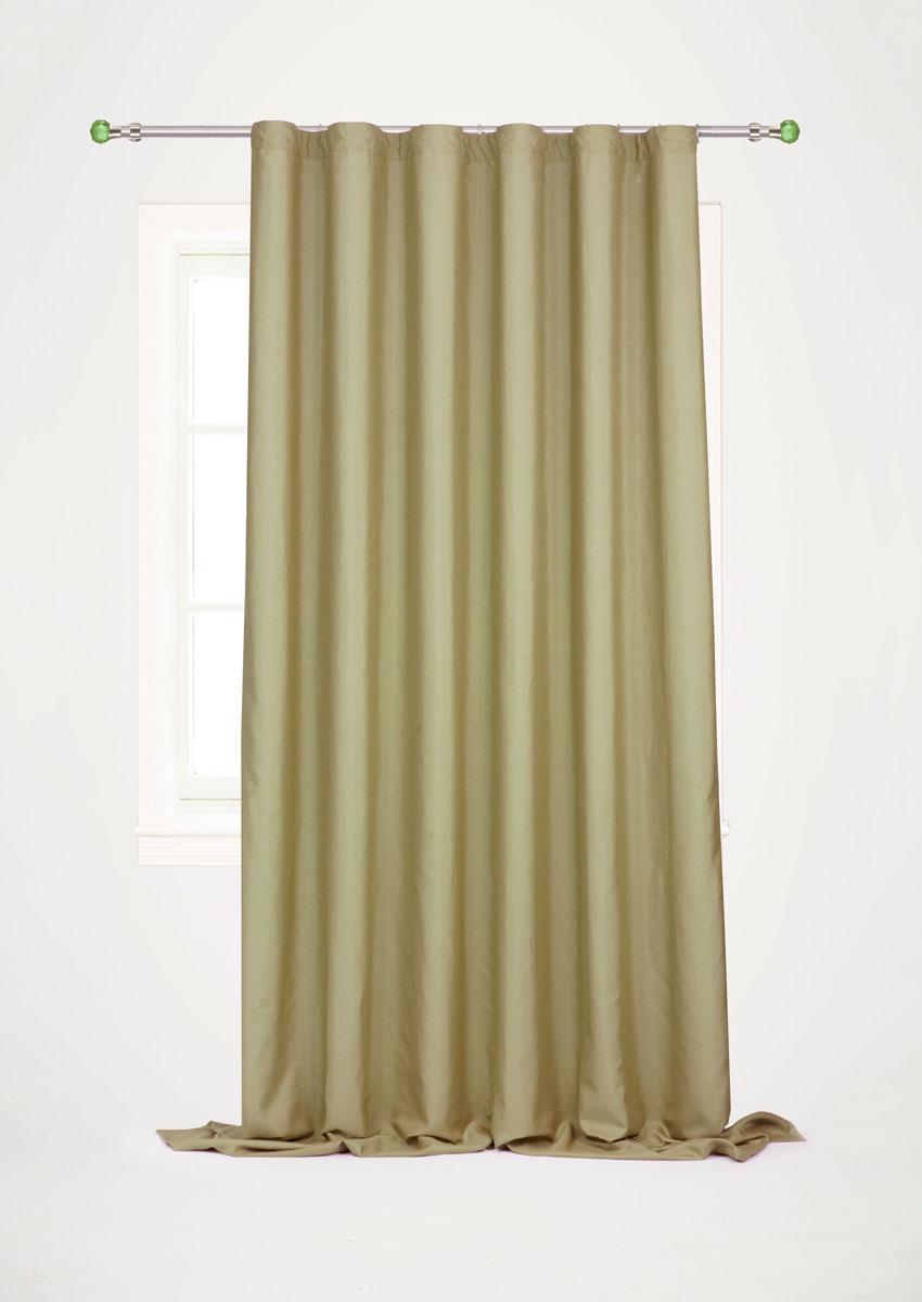 Штора готовая для гостиной Garden, на ленте, цвет: оливковый, размер 200*260 см. С W1687 V73172С W1687 V73172Готовая штора-портьера для гостиной Decorato выполнена из плотной ткани репс (полиэстер). Богатая текстура материала и спокойная цветовая гамма украсят любое окно и органично впишутся в интерьер помещения. Изделие оснащено шторной лентой для красивой сборки.