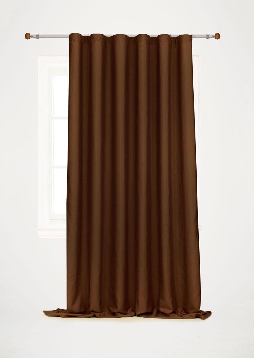 Штора готовая для гостиной Garden, на ленте, цвет: коричневый, размер 200*260 см. С W1687 V78067С W1687 V78067Готовая штора-портьера для гостиной Garden выполнена из плотной ткани репс (полиэстер). Богатая текстура материала и спокойная цветовая гамма украсят любое окно и органично впишутся в интерьер помещения. Изделие оснащено шторной лентой для красивой сборки.