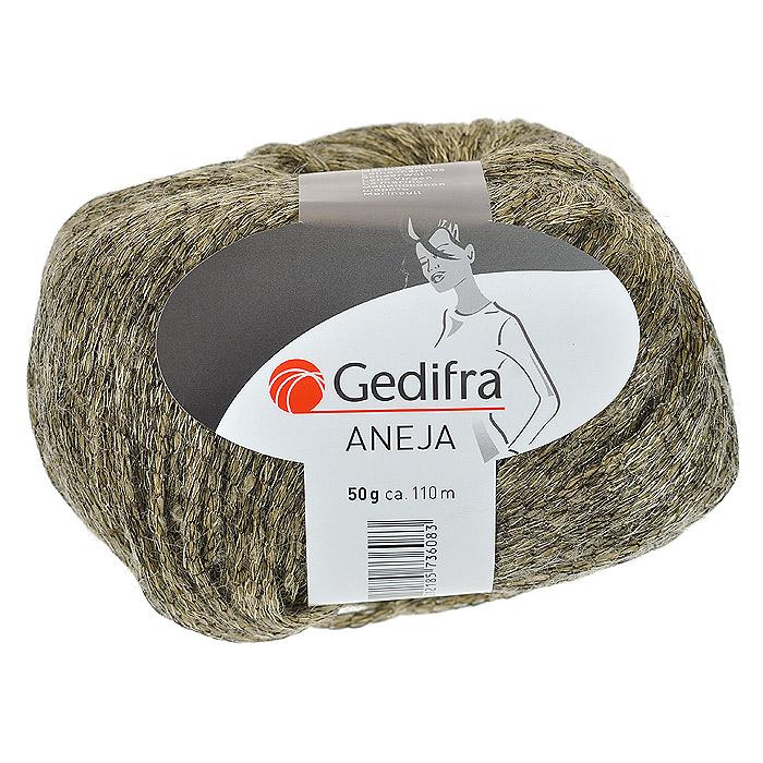 Пряжа для вязания Aneja, цвет: коричневый (01108), 110 м, 50 г9811736-01108