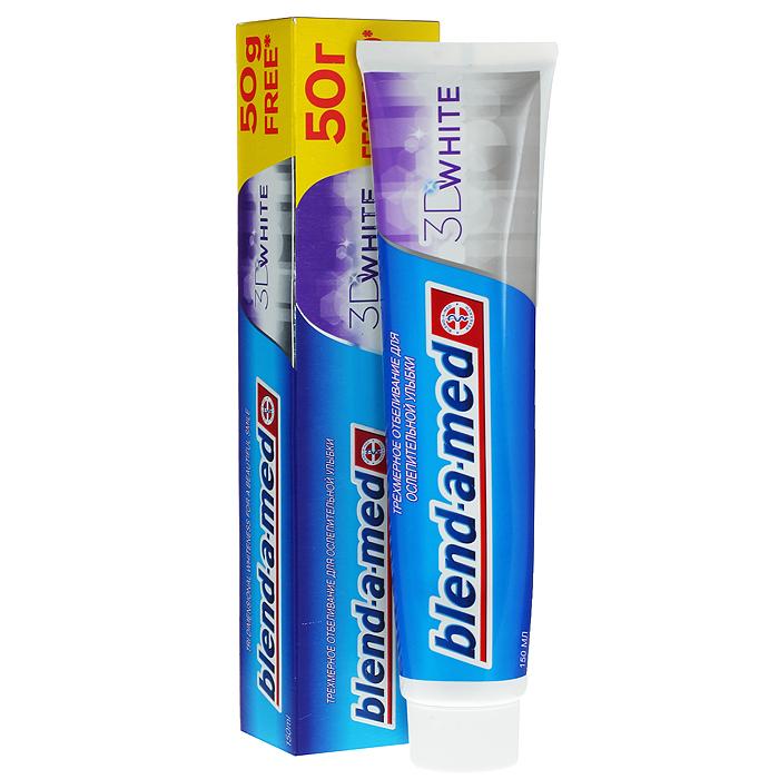 Blend-a-med Зубная паста 3D White, 150 млBM-81159358Зубная паста Blend-a-med 3D White помогает восстановить естественную белизну всем видимым поверхностям зубов - впереди, сзади и в промежутках между зубами! Это происходит за счет специальных отбеливающих частиц, которые во время чистки проникают в труднодоступные места, обеспечивая эффект трехмерного отбеливания! Характеристики: Объем: 150 мл. Производитель: Россия. Товар сертифицирован.