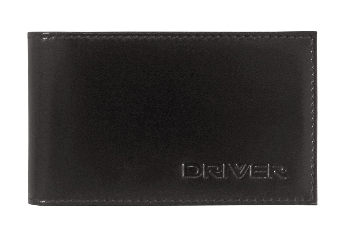 Футляр для пластиковых карт Driver, цвет: черный. 12К112К1Футляр для пластиковых карт Driver выполнен из натуральной кожи черного цвета и оформлен надписью бренда. Внутри находится блок из прозрачного пластика, рассчитанный на 18 пластиковых карточек или визиток, а также два отделения для хранения sim-карт. Кожгалантерея Driver изготовлена из высококачественной натуральной кожи. Специальное защитное покрытие способствует долгой службе изделий. Вся продукция гипоаллергенна. Прозрачные растительные краски подчеркивают натуральную фактуру. Множество отделений позволит сохранить документы в порядке. Характеристики: Материал: натуральная кожа, текстиль, ПВХ. Размер футляра в закрытом виде: 11 см x 1 см х 6,7 см. Размер упаковки: 11 см x 1 см x 10,5 см. Цвет: черный. Производитель: Россия. Артикул: 12К1.