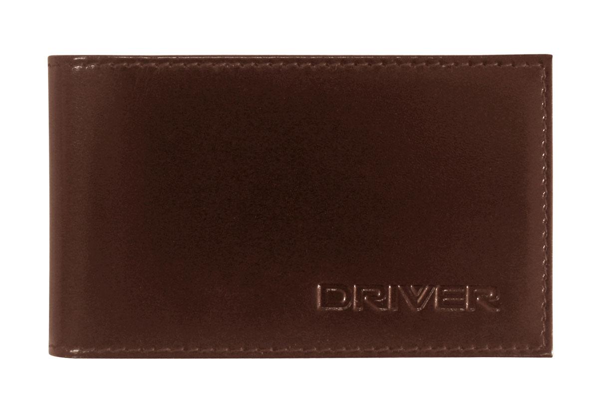 Футляр для пластиковых карт Driver, цвет: коричневый. 12К212К2Футляр для пластиковых карт Driver выполнен из натуральной кожи коричневого цвета и оформлен надписью бренда. Внутри находится блок из прозрачного пластика, рассчитанный на 18 пластиковых карточек или визиток, а также два отделения для хранения sim-карт. Кожгалантерея Driver изготовлена из высококачественной натуральной кожи. Специальное защитное покрытие способствует долгой службе изделий. Вся продукция гипоаллергенна. Прозрачные растительные краски подчеркивают натуральную фактуру. Множество отделений позволит сохранить документы в порядке. Характеристики: Материал: натуральная кожа, текстиль, ПВХ. Размер футляра в закрытом виде: 11 см x 1 см х 6,7 см. Размер упаковки: 11 см x 1 см x 10,5 см. Цвет: коричневый. Производитель: Россия. Артикул: 12К2.