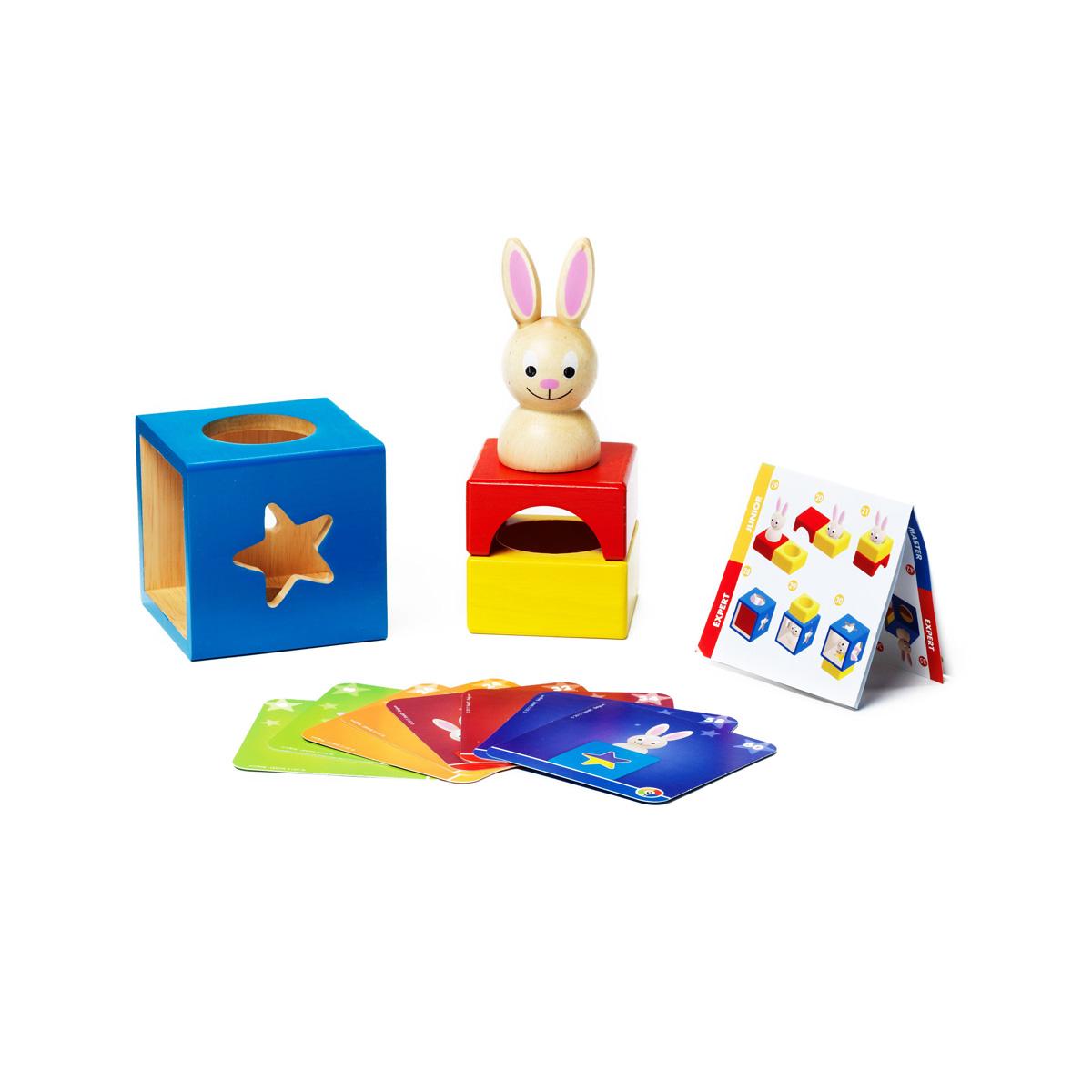 Игра Застенчивый КроликВВ0947Чудесная развивающая игра для малышей от 2 до 5 лет. Красочная деревянная головоломка с симпатичным кроликом и интересными заданиями, подходящими для маленьких детей, поможет им развивать внимание, память, логическое мышление, цветовое восприятие в увлекательной игровой форме. Чтобы справиться с заданием, ребенку требуется расположить объемные детали головоломки таким образом, чтобы решить одну из поставленных задач на карточке. Подробная инструкция содержит полезные советы для родителей по обучению юных игроков. В игру можно играть одному, с другом, родителями, бабушкой или дедушкой, благодаря качественному дизайну и разнообразным заданиям игра долго не наскучит малышу. Характеристики: Материал: дерево. Количество игроков: от 1. Размер упаковки: 24 см х 10,5 см х 24 см. Изготовитель: Китай.