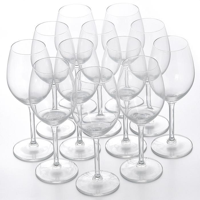 Набор бокалов Selection, 12 штГл 541205Набор Selection, выполненный из высококачественного стекла, состоит из шести бокалов объемом 400 мл и шести бокалов объемом 330 мл. Изящные бокалы на высокой ножке предназначены для подачи различных напитков. Набор бокалов Selection великолепно украсит праздничный стол и станет отличным подарком к любому празднику.