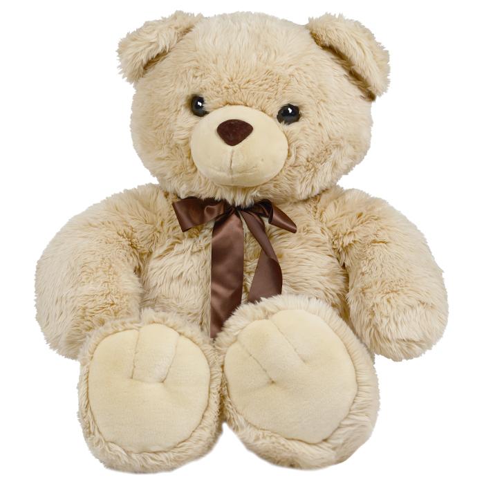 Мягкая игрушка Aurora Медведь, цвет: песочный, 120 см, 1 шт110-09Очаровательная мягкая игрушка Медведь, выполненная в виде медвежонка песочного цвета с коричневым бантиком на шее, вызовет умиление и улыбку у каждого, кто ее увидит. Удивительно мягкая игрушка принесет радость и подарит своему обладателю мгновения нежных объятий и приятных воспоминаний. Она выполнена из высококачественного искусственного меха с набивкой из гипоаллергенного синтепона. Материал изготовления фурнитуры - экологически чистая пластмасса. Великолепное качество исполнения делают эту игрушку чудесным подарком к любому празднику. Характеристики: Высота игрушки: 120 см. Материал игрушки: искусственный мех, текстиль, пластик. Материал набивки: синтепон. Изготовитель: Индонезия. Комплектация: 1 игрушка.