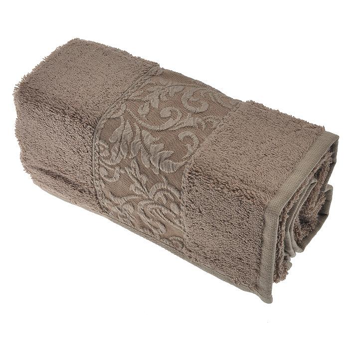 "Issimo Полотенце махровое ""Ravenna"", цвет: Brown (коричневый), 50 см х 90 см"