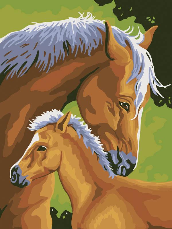 Живопись на холсте Лошадь и жеребенок, 30 см х 40 см207-CE Лошадь и жеребенокЖивопись на холсте Лошадь и жеребенок - это набор для раскрашивания по номерам акриловыми красками на холсте. В набор входят: - холст на подрамнике с нанесенным рисунком, - пробный лист с нанесенным рисунком, - набор акриловых красок, - кисти, - настенное крепление для готовой картины. Каждая краска имеет свой номер, соответствующий номеру на картинке. Нужно только аккуратно нанести необходимую краску на отмеченный для нее участок. Таким образом, шаг за шагом у вас получится великолепная картина. С помощью серии наборов Живопись на холсте вы можете стать настоящим художником и создателем прекрасных картин. Вы получите истинное удовольствие от погружения в процесс творчества и созданные своими руками картины украсят интерьер вашего дома или станут прекрасным подарком. Техника раскрашивания на холсте по номерам дает возможность легко рисовать даже сложные сюжеты. Прекрасно развивает художественный вкус, аккуратность и внимание....