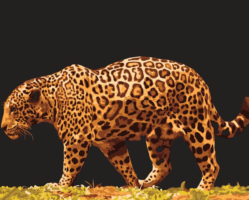Живопись на холсте Леопард, 40 см х 50 см512-CG ЛеопардЖивопись на холсте Леопард - это набор для раскрашивания по номерам акриловыми красками на холсте. В набор входят: - холст на подрамнике с нанесенным рисунком, - пробный лист с нанесенным рисунком, - набор акриловых красок, - кисти, - настенное крепление для готовой картины. Каждая краска имеет свой номер, соответствующий номеру на картинке. Нужно только аккуратно нанести необходимую краску на отмеченный для нее участок. Таким образом, шаг за шагом у вас получится великолепная картина. С помощью серии наборов Живопись на холсте вы можете стать настоящим художником и создателем прекрасных картин. Вы получите истинное удовольствие от погружения в процесс творчества и созданные своими руками картины украсят интерьер вашего дома или станут прекрасным подарком. Техника раскрашивания на холсте по номерам дает возможность легко рисовать даже сложные сюжеты. Прекрасно развивает художественный вкус, аккуратность и внимание. Набор...