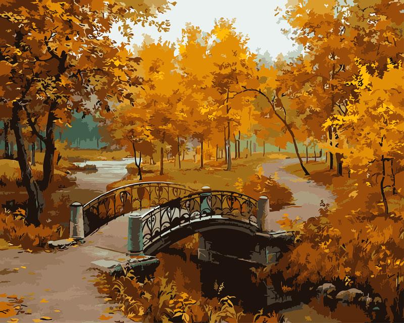 Живопись на холсте Осенний парк, 40 х 50 см527-CG Осенний паркЖивопись на холсте Осенний парк - это набор для раскрашивания по номерам акриловыми красками на холсте. В набор входят: - холст на подрамнике с нанесенным рисунком, - пробный лист с нанесенным рисунком, - набор акриловых красок, - кисти, - настенное крепление для готовой картины. Каждая краска имеет свой номер, соответствующий номеру на картинке. Нужно только аккуратно нанести необходимую краску на отмеченный для нее участок. Таким образом, шаг за шагом у вас получится великолепная картина. С помощью серии наборов Живопись на холсте вы можете стать настоящим художником и создателем прекрасных картин. Вы получите истинное удовольствие от погружения в процесс творчества и созданные своими руками картины украсят интерьер вашего дома или станут прекрасным подарком. Техника раскрашивания на холсте по номерам дает возможность легко рисовать даже сложные сюжеты. Прекрасно развивает художественный вкус, аккуратность и внимание. Набор...