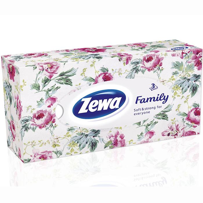 Zewa Платки косметические в коробке Family, 90 шт14081477Мягкие трехслойные гигиенические салфетки Zewa Family изготовлены из высококачественного экологически чистого сырья. Обладают большой впитывающей способностью. Не вызывают аллергии, не раздражают чувствительную кожу. Просты и удобны в использовании.