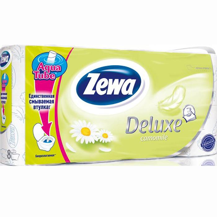 Туалетная бумага Zewa Deluxe. Ромашка, трехслойная, цвет: белый, 8 рулонов02.03.05.5365Туалетная бумага Zewa Deluxe. Ромашка изготовлена из целлюлозы высшего качества и обладает приятным ароматом ромашки. Трехслойные листы белого цвета имеют рисунок с тиснением. Бумага мягкая, нежная, но в тоже время прочная, не расслаивается и отрывается строго по линии перфорации. Рулоны оснащены смываемой биоразлагаемой втулкой. Количество рулонов: 8 шт. Количество листов (в одном рулоне): 145 шт. Количество слоев: 3. Размер листа: 9,5 х 13 см. Длина рулона: 18,8 м. Уважаемые клиенты. Обращаем ваше внимание на возможные изменения в дизайне упаковки. Качественные характеристики товара остаются неизменными. Поставка осуществляется в зависимости от наличия на складе.