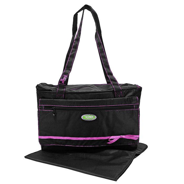 Сумка-термос Foogo Large Diaper Fashion Bag, цвет: черный, розовый, 10 л