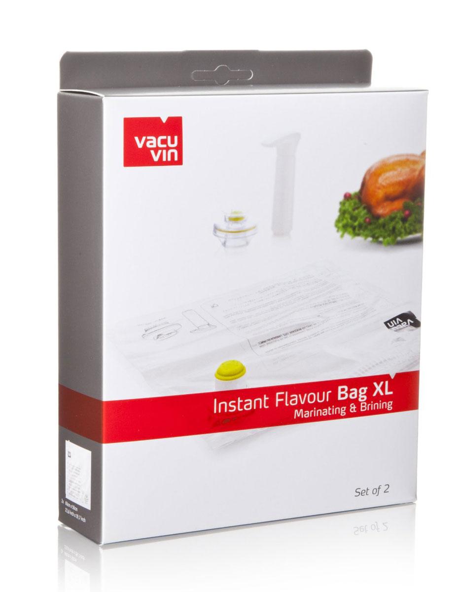 Набор для маринования и соления VacuVin, 3 предмета2974660Набор для маринования и соления VacuVin состоит из двух пакетов и вакуумного клапана. Набор прекрасно подойдет для мяса, рыбы, птицы и овощей. С их помощью можно использовать на 75% меньше маринада или рассола. Благодаря клапану пакет не пропускает воздух, и пища маринуется намного быстрее. Пакет достаточно большой по размеру, в сложенном виде занимает очень мало места.