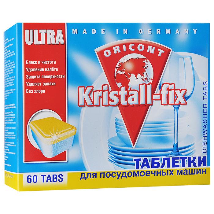 Таблетки для ПММ Kristall-fix, 60 шт х 20 г40139Таблетки для посудомоечных машин Luxus Kristall-fix не содержат хлор и агрессивные химикаты, благодаря чему есть гарантия бережного мытья посуды с орнаментом и позолотой, столового серебра. Специальные биологические ферменты и активные вещества на основе кислорода расщепляют остатки пищи, удаляют даже застаревшие загрязнения, пятна от кофе и чая, жира и т.д., даже из рифленой и хрустальной посуды. Моет до блеска даже в жесткой воде. Пригодно для всех типов посудомоечных машин. Способ применения: Удалить остатки пищи с посуды, поставить ее в посудомоечную машину. Положить таблетку в дозатор или в короб для мойки столовых приборов (ножей, вилок). Закрыть машину. Для достижения оптимального результата рекомендуется постоянно следить за состоянием соли и ополаскивателя от Kristall-fix в машине. Характеристики: Количество таблеток: 60 шт. Размер упаковки: 19 см х 7 см х 15 см. Состав: >30% фосфаты, 5-15% поликарбоксилаты, неионные тензиды, ПАВы на...