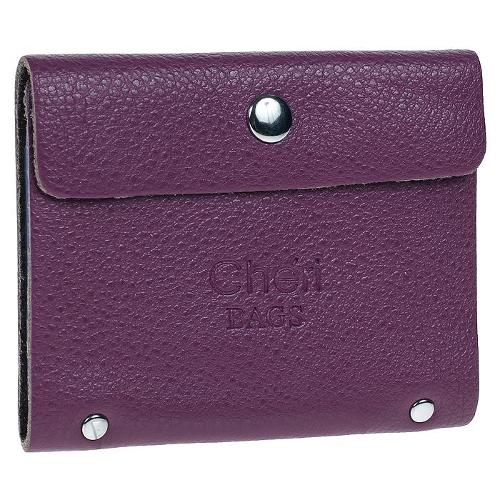 Визитница Cheribags, цвет: фиолетовый. V-0488-19