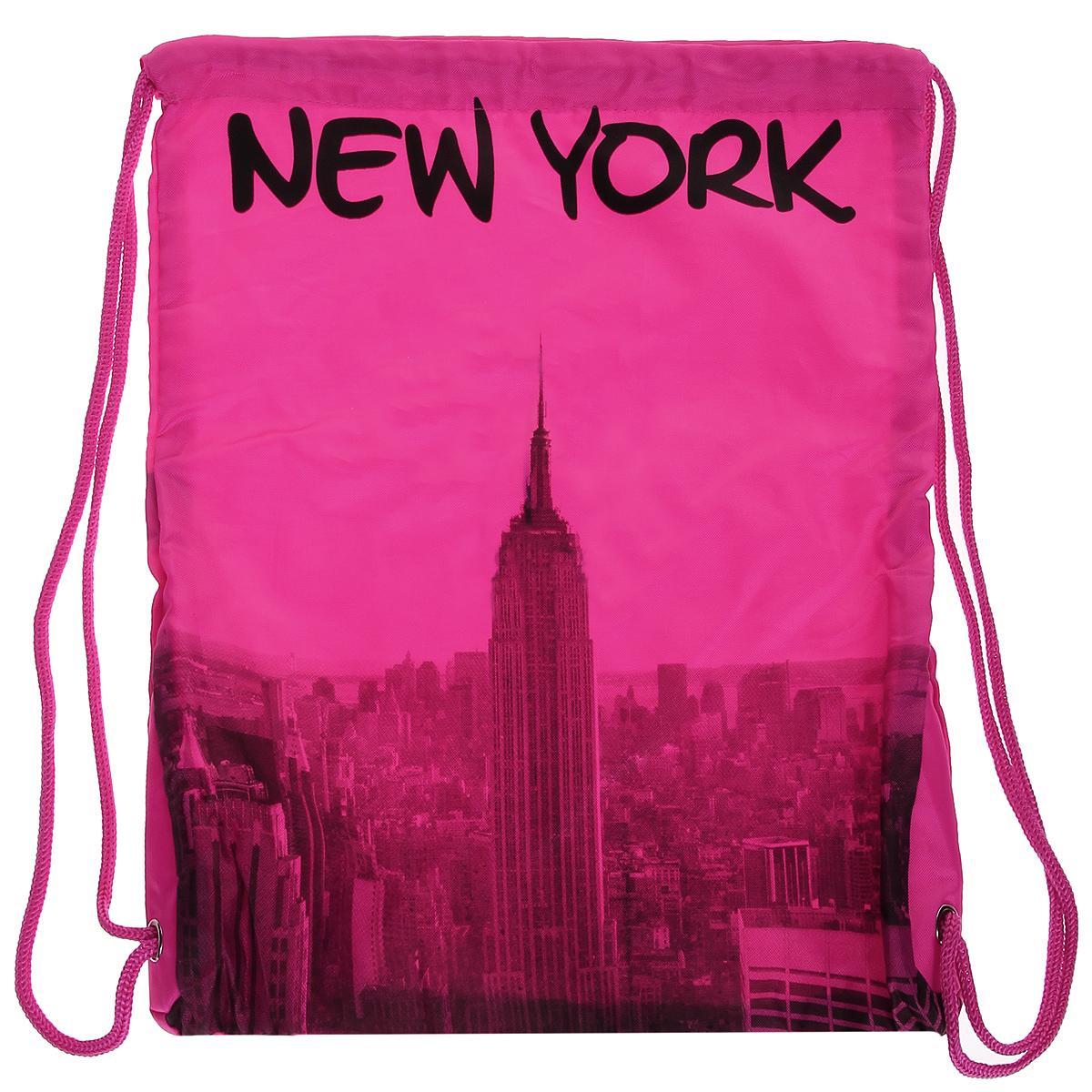 Сумка женская Robin Ruth New York, цвет: розовый. BNY614-CBNY614-CСтильная женская сумка выполнена из полиэстера розового цвета и оформлена принтом в виде надписей New York. Сумка состоит из одного основного отделения, которое затягивается шнурком. Такая сумка идеально дополнит ваш образ. Характеристики: Цвет: розовый. Материал: полиэстер. Размер сумки (без учета ручки): 34 см х 43 см х 2 см. Изготовитель: Китай. Артикул: BNY614-C.