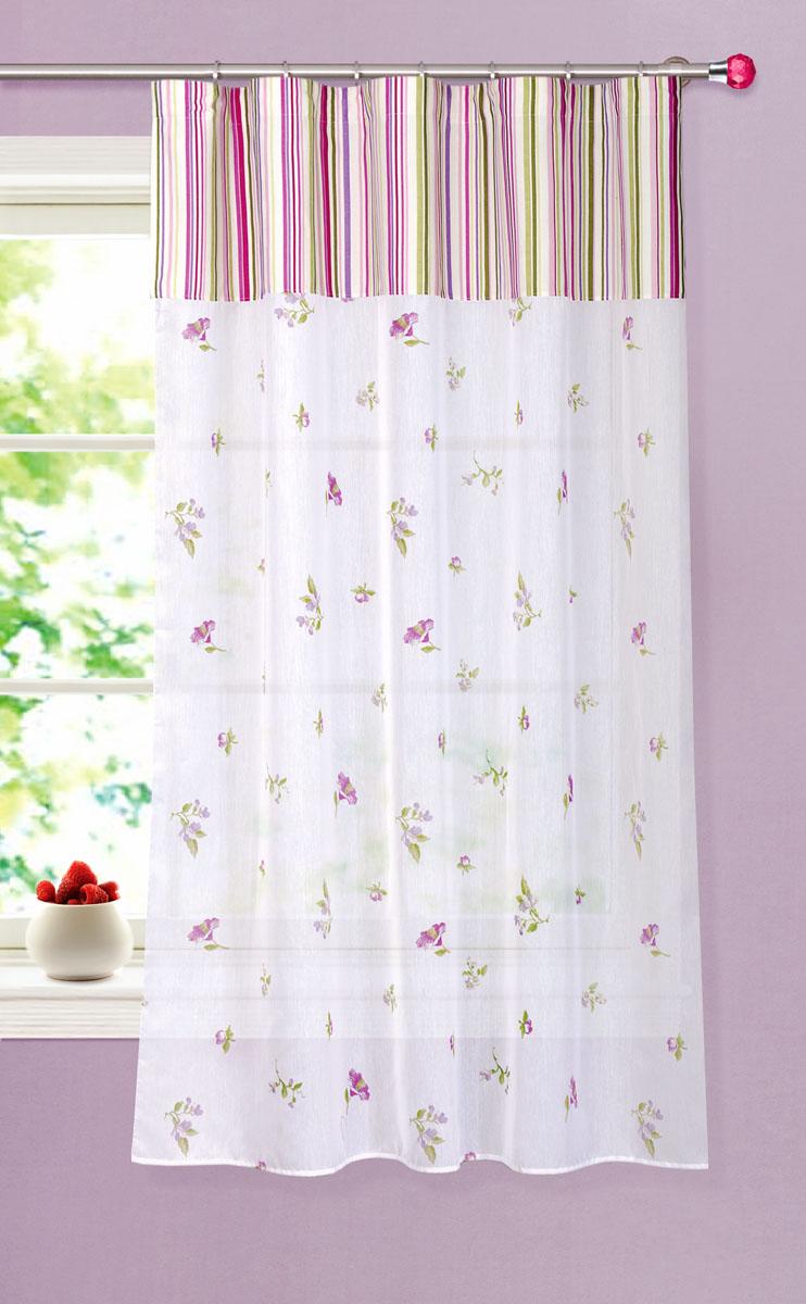 Штора готовая для кухни Garden, на ленте, цвет: белый, размер 150*180 см. С 8175 - W356 - W1687 V14С 8175 - W356 - W1687 V14Тюлевая штора для кухни Garden выполнена из микро батиста (полиэстера) с изображением цветов. Легкая текстура материала и яркая цветовая гамма привлекут к себе внимание и станут великолепным украшением кухонного окна. Штора добавит уюта и послужит прекрасным дополнением к интерьеру кухни. Изделие оснащено шторной лентой для красивой сборки.