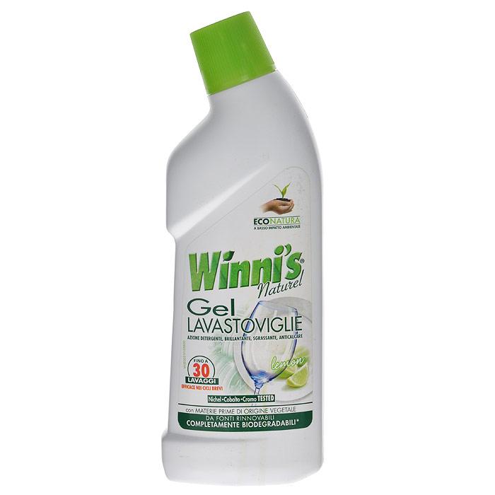 Гель для посудомоечных машин Winnis Naturel Lavastoviglie, 750 мл6270Жидкое моющее средство Winnis Naturel Lavastoviglie на растительном сырье предназначено для посудомоечных машин, действует быстро и эффективно за счет своей консистенции и формулы. Очищает даже самые застаревшие загрязнения, дезинфицирует и устраняет неприятные запахи. Эффективен даже при низких температурах воды. Хватает на 30 моек. Характеристики: Объем: 750 мл. Производитель: Италия. Артикул: 6270. Товар сертифицирован.
