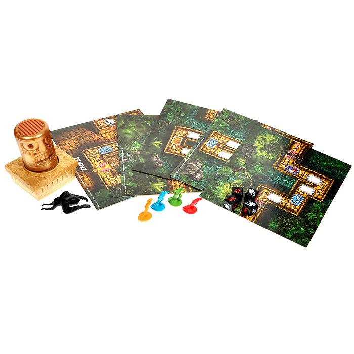 Настольная игра Temple Run34166Настольная игра Temple Run - это увлекательная настольная игра, созданная по мотивам компьютерной игры для мобильных устройств в жанре бесконечный раннер. По сюжету игры, несколько исследователей (бегунов) крадут золотого идола из храма, охраняемого демоническими обезьянами. Цель игры – пробежать как можно дольше или оказаться последним съеденным. Электронный таймер, выполненный в виде золотого идола, воспроизводит ритмичную барабанную музыку и придает игре динамику, азарт, дух соревнования… За время, пока работает таймер, нужно выбрасывать кубики до тех пор, пока выпавшая комбинация не утроит игрока. Но при этом важно уложиться в то время, которое отведено игроку. Настольная игра может продолжаться очень долго благодаря тому, что состоящее из нескольких пластин игровое поле перестраивается по мере продвижения игроков вперед. Комплект настольной игры Temple Run включает в себя секцию Храм, секцию Старт, 3 секции Путь, фишку Зловещая обезьяна, 4 фишки Бегун,...