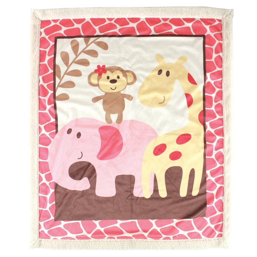 Одеяльце детское с ленточкой Друзья-сафари, цвет: розовый, 91 см х 91 см45828_розовыйВосхитительно мягкое и теплое одеяльце Друзья-сафари словно создано для того, чтобы окружить теплотой и радостью маленькую кроху. Оно прекрасно подходит для укрывания малыша, как дома, так и на прогулке в коляске. Верхний слой одеяла изготовлен из мягкого, приятного на ощупь флиса, нижний слой - из мягкой согревающей шерпы. Одеяло оформлено ярким веселым принтом. Благодаря размерам и практичному материалу одеяло очень удобно в использовании. Детское одеяло Друзья-сафари - лучший выбор родителей, которые хотят подарить ребенку ощущение комфорта и надежности уже с первых дней жизни. Рекомендации по уходу: - не гладить; - не отбеливать; - стирка при температуре не более 40°С; - сушка в барабане при более низкой температуре; - сухая чистка запрещена. Характеристики: Материал: 100% полиэстер (флис, шерпа). Цвет: розовый. Размер одеяла: 91 см х 91 см. Производитель: США. Изготовитель: Китай.