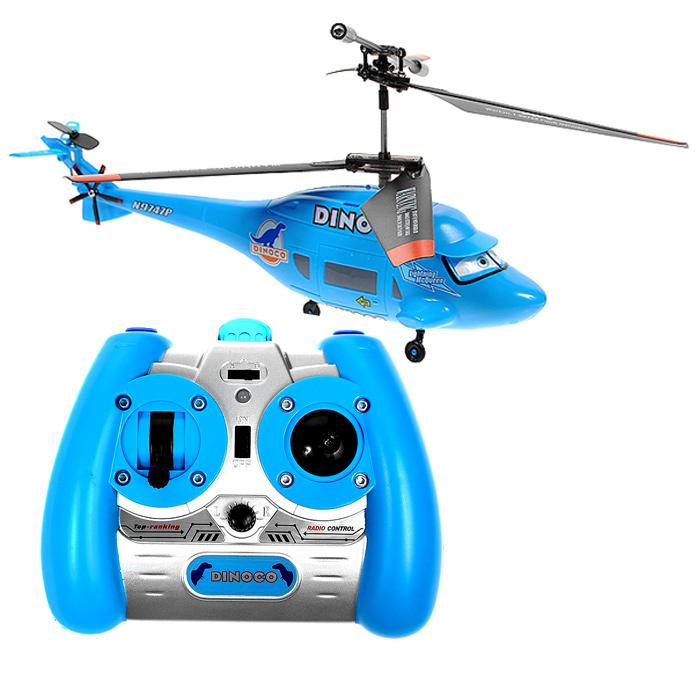 Dickie Toys Вертолет на инфракрасном управлении Диноко3089560Вертолет Диноко на инфракрасном управлении непременно понравится вашему ребенку и надолго займет его внимание. Игрушка изготовлена из безопасного пластика и выполнена в виде героя популярного мультфильма Тачки - вертолета Диноко, принадлежащего спонсору. Модель оснащена встроенным гироскопом, который поможет скорректировать и устранить нежелательные вращения корпуса вертолета, благодаря чему сохранится высокая устойчивость полета, что позволит полностью контролировать его процесс, управляя без суеты и страха сломать игрушку. Вертолет имеет три канала управления, которые регулируют высоту полета, движение вперед, назад и вращение вокруг оси. Каждый запуск вертолета будет максимально комфортным и принесет вам яркие впечатления! Вертолет работает от встроенной ионно-литиевой батареи, зарядка которого осуществляется через USB-кабель (входит в комплект). Для работы пульта управления необходимо докупить 6 батарей напряжением 1,5V типа АА (не входят в...
