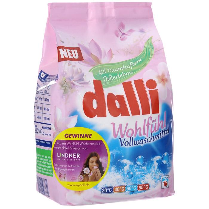 Универсальный концентрированный стиральный порошок Dalli Wohlfuhl, 1,12 кг527380Универсальный концентрированный стиральный порошок имеет удивительный аромат. Dalli Wohlfulh разработан парфюмерами из Франции, устраняет застарелые пятна даже при низких температурах, хорошо растворяется, не требуется замачивания. Не содержит фосфатов, не требует дополнительных средств от извести. Температура стирки 30-95°С. Рассчитан на 16 стирок. Дозировка: нормальное загрязнение, средняя вода - 85 мл (67,5 г), ручная стирка 30 мл на 10 л воды.