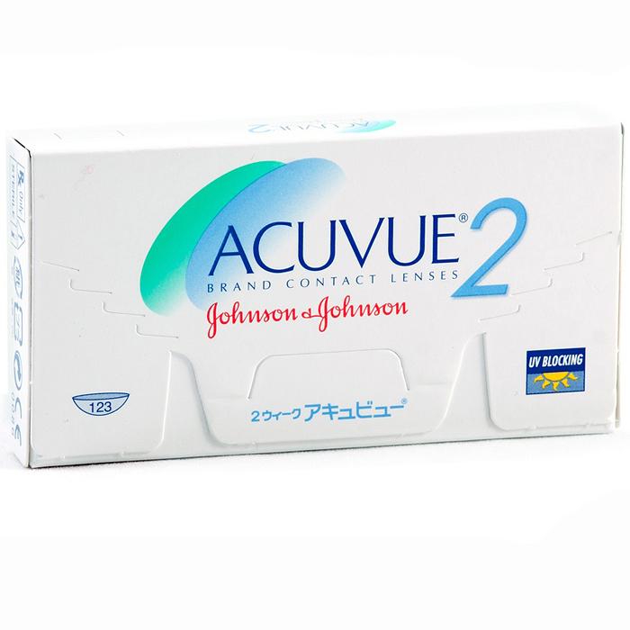 Johnson & Johnson контактные линзы Acuvue 2 (6шт / 8.7 / +2.25)