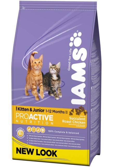 Корм сухой Iams Kitten для котят и кошек во время беременности и лактации, с курицей, 10 кг81026001Сухой корм Iams Kitten является полноценным сбалансированным питанием для котят от 1 до 12 месяцев, беременных и лактирующих кошек. Не содержит искусственных красителей, консервантов и вкусовых добавок. Iams дает вашей кошке все необходимые питательные вещества для поддержания все 7 признаков здорового животного: - Хорошее пищеварение: пребиотики и пульпа сахарной свеклы поддерживают развитие пищеварительной системы вашего котенка. - Сильная иммунная система: корм обогащен антиоксидантами, которые способствуют поддержанию сильной иммунной системы. - Оптимальный рост: высококачественные белки способствуют росту и развитию сильной мускулатуры вашего котенка. - Здоровье кожи и шерсти: содержание Омега-6 и Омега-3 жирных кислот для здоровья кожи и блеска шерсти. - Отличное зрение: докозагексаеновая (DHA) кислота ряда Омега-3 способствует развитию органов зрения. - Способность к обучению: докозогексаеновая (DHA) кислота ряда Омега-3 способствует...