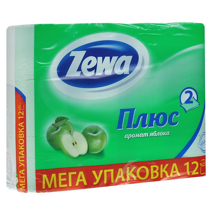 Zewa Туалетная бумага Плюс, с ароматом яблока, двухслойная, цвет: зеленый, 12 рулонов02.03.05.144098Ароматизированная туалетная бумага Zewa Плюс обладает приятным ароматом яблока. Двухслойные листы зеленого цвета имеют рисунок с тиснением. Бумага мягкая, нежная, но в тоже время прочная, не расслаивается и отрывается строго по линии перфорации.