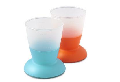Набор кружек-непроливаек BabyBjorn, 100 мл, 2 шт, цвет: оранжевый, бирюзовый