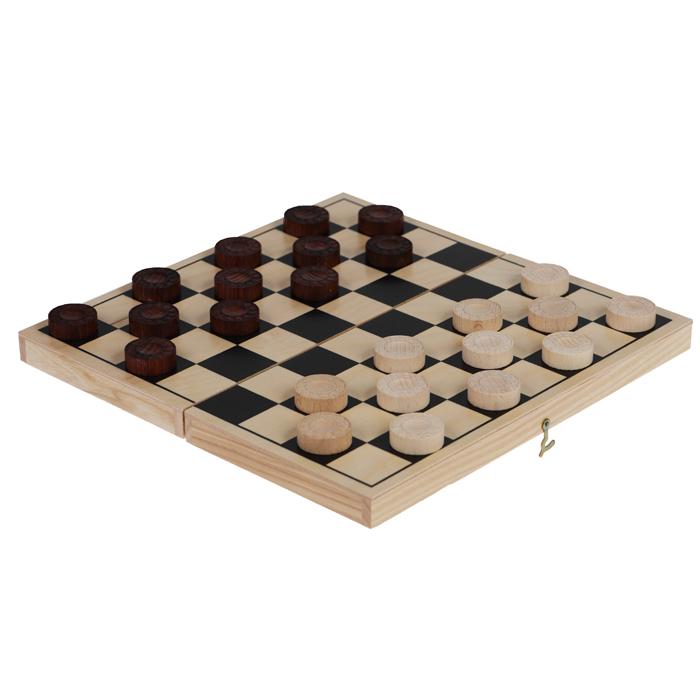 Шашки Классические, цвет: бежевый, размер: 29х14,5х3,8 см. 72027202 бежевыйНастольная игра Шашки - это увлекательная и интересная игра для людей всех возрастов. В наборе имеется игровое поле и 24 шашки. Шахматы помогут развить логическое мышление и позволят вам интересно и с пользой провести время.