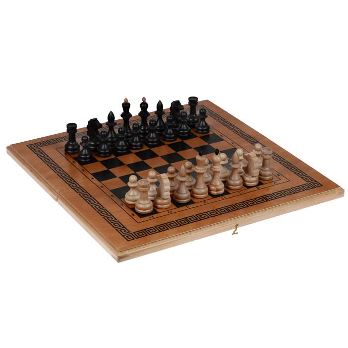 Игровой набор Свойский 3 в 1: Шахматы, шашки, нарды, размер: 50х25х4,2 см. 72057205 бежевыйИгровой набор шахматы, шашки, нарды Свойские представляет собой деревянный кейс с полями для игр, игровые фишки и фигуры. Все предметы набора выполнены из дерева (бук). Внутренняя поверхность - поле для игры в нарды, внешняя поверхность - поле для игры в шашки и шахматы. В комплекте - шахматные фигуры, фишки, два игральных кубиков. Шахматы, шашки, нарды - это интересные занимательные игры, которые помогут развить логическое мышление и позволят вам интересно и с пользой провести время. Такой набор станет чудесным подарком к любому празднику.