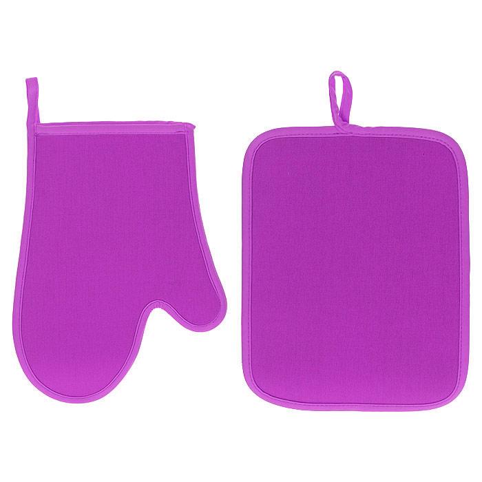 Набор Premier Housewares: прихватка, рукавица, цвет: розовый0806552Набор Premier Housewares состоит из прихватки и рукавицы, выполненных из неопрена розового цвета. Материал очень прочный, эластичный, способен выдерживать температуру до 220°С. Прихватки надежно защитят ваши руки от ожогов, а своим ярким дизайном украсят вашу кухню. Прихватки можно подвешивать благодаря имеющимся на них петелькам. Такой набор - отличный вариант для практичной и современной хозяйки.