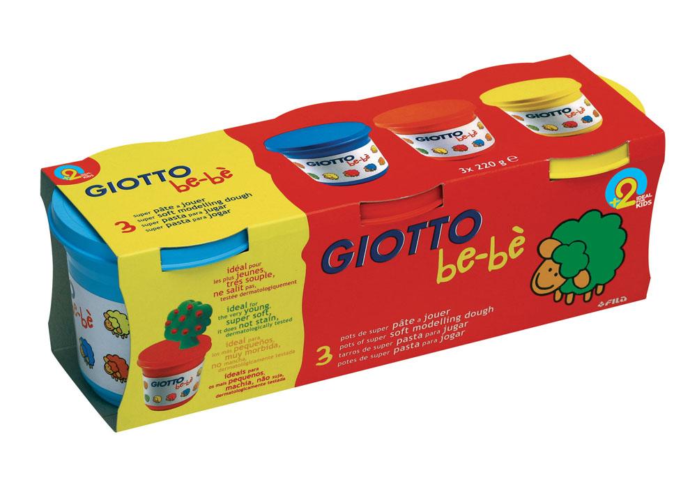 Масса для моделирования Giotto Be-be, цвет: белый, голубой, красный, желтый, 3 шт х 220 г463100Масса для моделирования Giotto Be-be предназначена для самых маленьких. Ярко оформленная коробка со знаменитой овечкой Be-Be порадует любого малыша. В упаковке четыре цвета: голубой, красный, желтый. Масса изготовлена из натуральных, экологически чистых материалов. Масса для лепки имеет отличные пластичные свойства, не засыхает и не затвердевает при работе. На воздухе масса постепенно затвердевает, но может быть снова размягчена водой и использована. Цвета хорошо смешиваются между собой. Поделку можно раскрасить. Помогает развивать мелкую моторику рук, цветовое восприятие и фантазию. Продукт проверен и одобрен дерматологами.