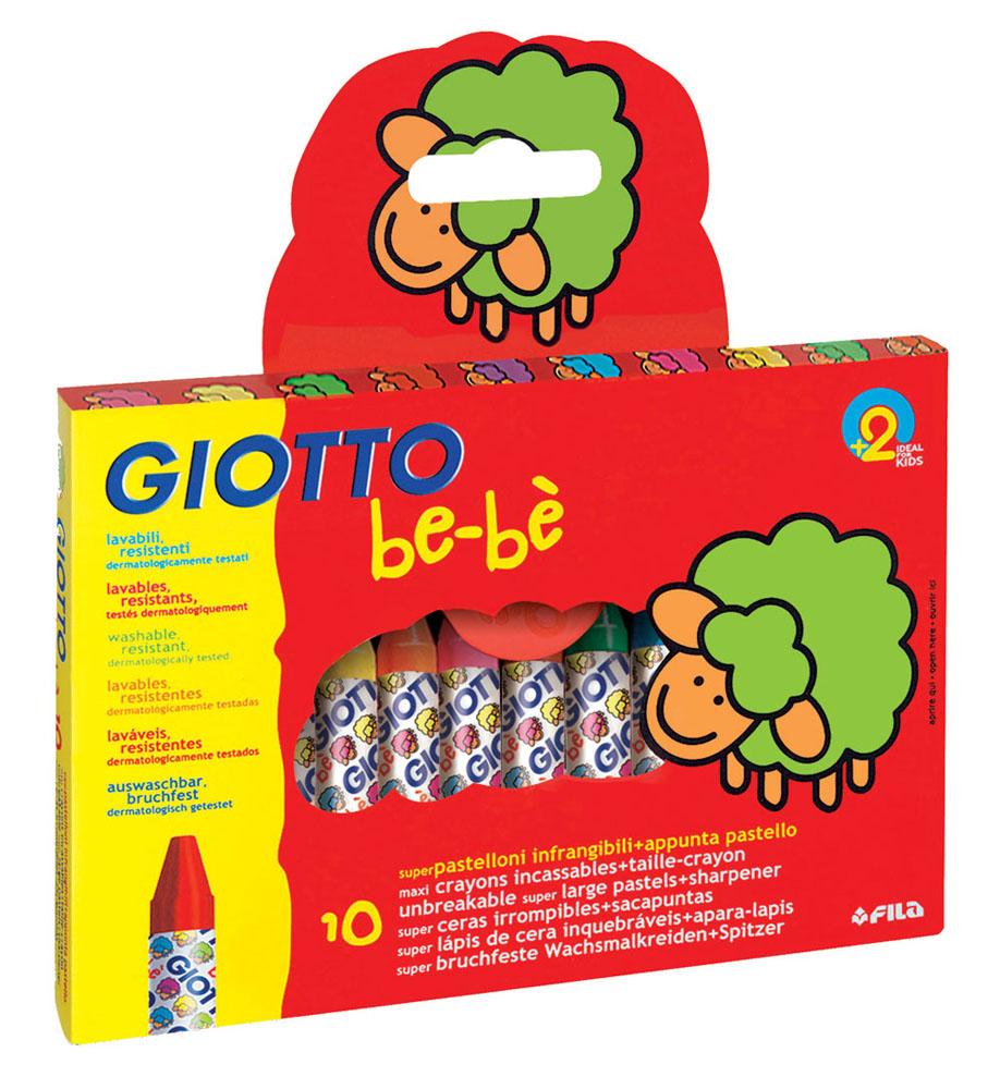 Восковые мелки Giotto Bebe, с точилкой, 10 цветов464300Восковые мелки Giotto Be-be созданы для самых маленьких художников. Они отличаются яркими и насыщенными цветами, а также позволяют проводить мягкие и ровные штрихи. Данные изделия не пачкаются и не ломаются? cделаны по уникальной технологии, выдерживают очень сильный нажим. Мелками можно рисовать на различных поверхностях: бумаге любого типа (кроме лощеной), картоне, на ватмане, а также на дереве. В наборе: восковые мелки - 10 шт, точилка.