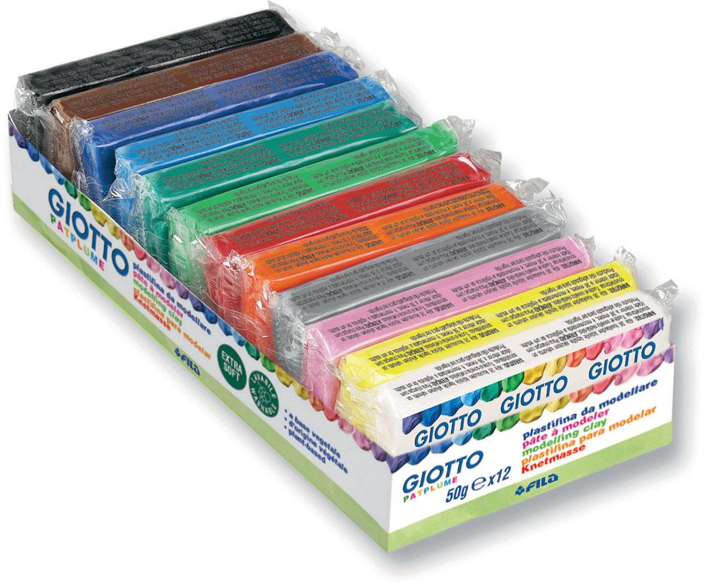 Пластилин Giotto Patflume, 12 цветов510300Пластилин Giotto Patflume - это уникальный пластилин, состоящий из двенадцати брусочков различных ярких цветов. Растительная основа и высокая пластичность позволяет делать даже мельчайшие детали, которые легко соединяются между собой. Пластилин не боится перемен температуры, не требует длительного разминания. Без запаха, не теряет своих свойств даже при длительном хранении. Не липнет к рукам. Легко отстирывается, не оставляя следов на любой поверхности. Не затвердевает на воздухе. Можно использовать различные техники лепки, рисования, моделирования.
