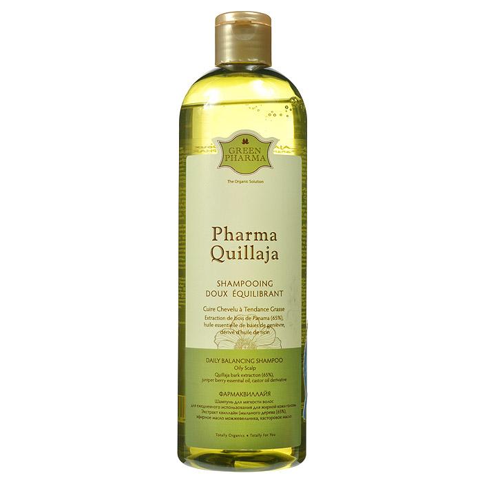 Greenpharma PharmaQuillaja Шампунь для мягкости волос, для ежедневного использования, для жирной кожи головы, 500 мл7436Шампунь Greenpharma для мягкости волос предназначен для ежедневного использования для жирной кожи головы. Шампунь регулирует выделение себума, не вызывая ответную гиперсеборею, благодаря содержанию экстракта квиллайи( мыльного дерева). Квиллайя является одним из редких натуральных моющих веществ, благодаря большому количеству содержащихся в ней сапонинов, обладающих впитывающими свойствами. Шампунь особенно рекомендуется для частого мытья волос, которым он возвращает легкость и мягкость. Характеристики: Объем: 500 мл. Артикул: 7436. Производитель: Россия. Товар сертифицирован.