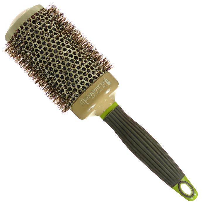 Macadamia Natural Oil Брашинг, 5,3 смММ33Брашинг Macadamia Natural Oil предназначен для укладки длинных и густых волос. Отлично подходит для создания объема у корней, придания формы, как при выпрямлении, так и при создании локонов. Основа с керамическим покрытием. 100% натуральная щетина. Характеристики: Материал: щетина, керамика, пластик. Диаметр брашинга: 5,3 см. Производитель: США. Товар сертифицирован.