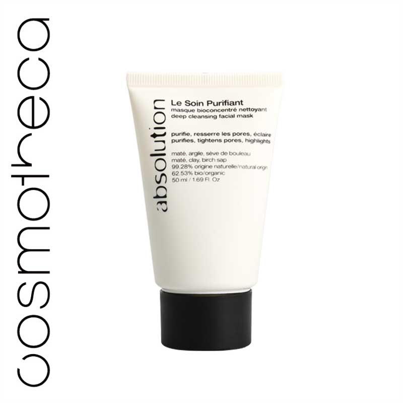 Absolution Маска для лица, очищающая, 50 млABS0014Маска для лица Absolution быстро и эффективно очищает кожу. Белая глина абсорбирует излишний жир и стягивает поры, березовый сок успокаивает и очищает кожу, экстракт мате - хлорофилл, витамины (А, С, В1, В2, К), минералы, - придает коже сияние.