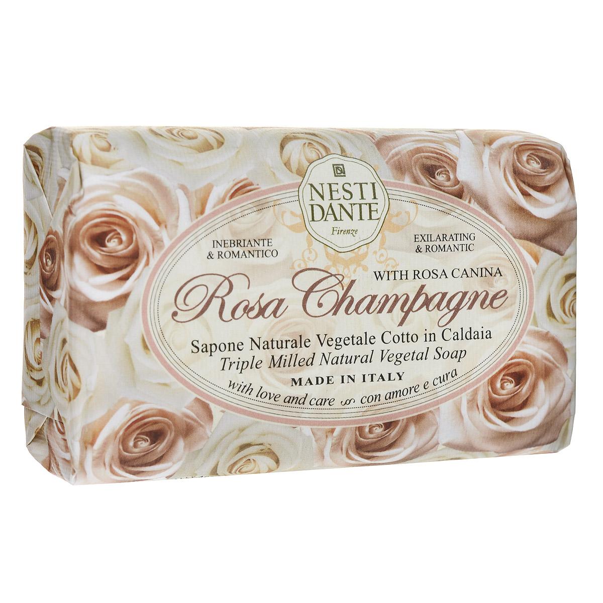 Nesti Dante Мыло Rose Champagne, 150 г1323106Мыло Nesti Dante Rose Champagne - увлажняющее мыло с ароматом нежных, как шелк, лепестков розы. Характеристики: Вес: 150 г. Артикул: 1323106. Производитель: Италия. Товар сертифицирован.