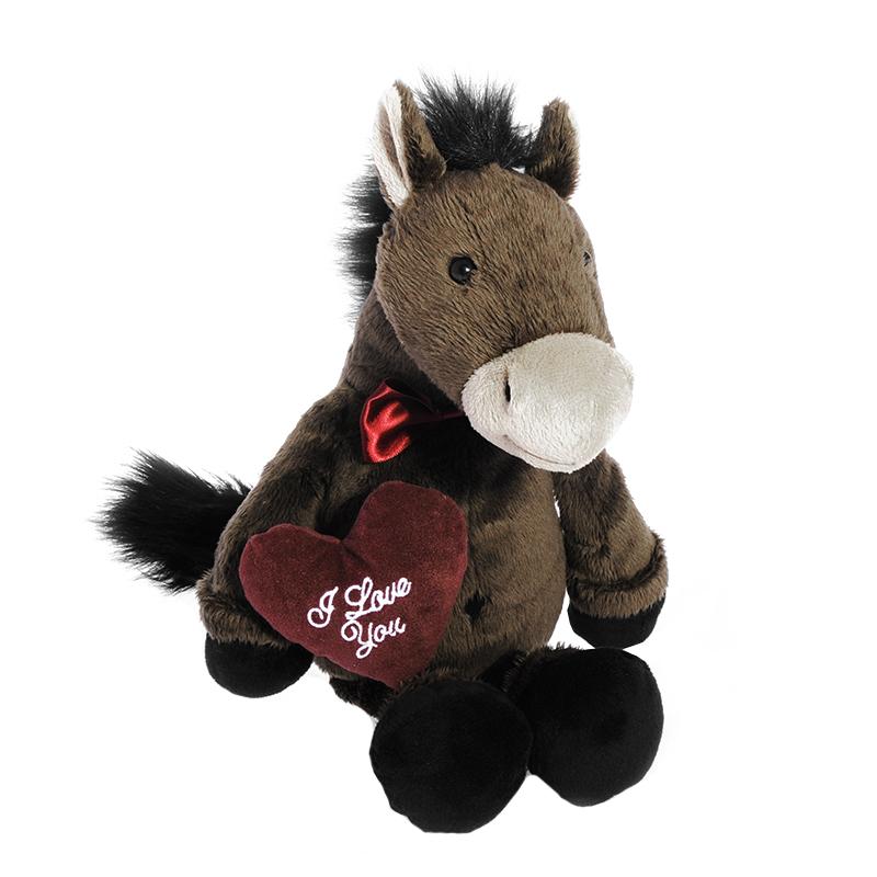 Мягкая игрушка Maxi Toys Конь Джекки с сердцем, 35 смMT-TS0113004-24BОчаровательная мягкая игрушка Конь Джекки с сердцем, выполненная в виде забавной лошадки темно-серого цвета с бордовым сердечком в лапках, изготовленная из искусственного меха, вызовет умиление и улыбку у каждого, кто ее увидит. Она станет замечательным подарком, как ребенку, так и взрослому. Необычайно мягкая, она принесет радость и подарит своему обладателю мгновения нежных объятий и приятных воспоминаний. Игрушки, выпускаемые под маркой Maxi Toys пользуются огромной популярностью не только у детей, но и у молодежи. Веселые образы разработанные дизайнерами и технологами никого не оставят равнодушным. Все товары отвечают самым строгим требованиям качества и абсолютно безопасны для детей, что подтверждено сертификатами качества. Характеристики: Высота игрушки: 35 см. Материал: искусственный мех, текстиль. Набивка: синтепон. Размер упаковки: 16 см x 14 см x 38 см.