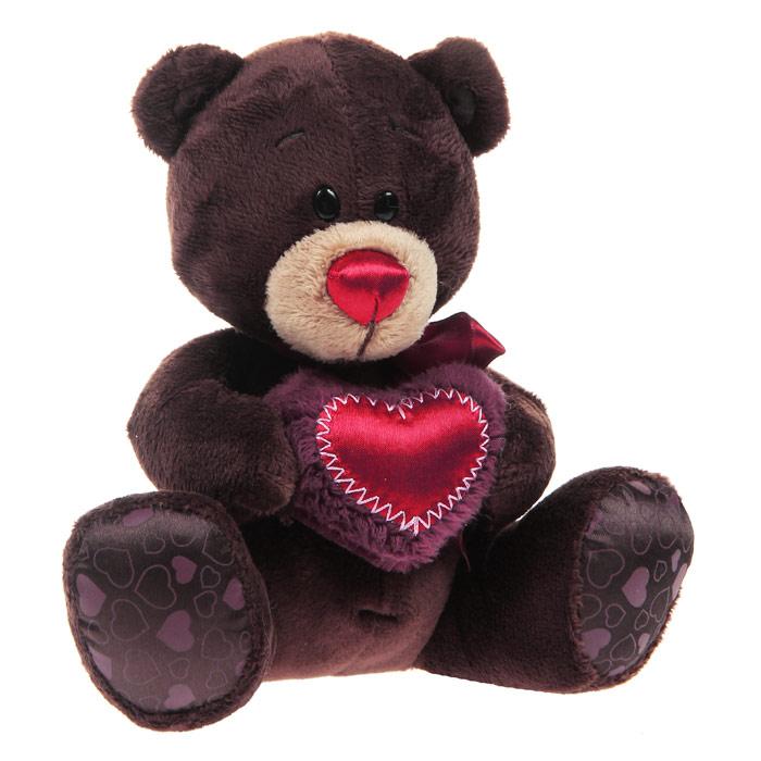 Мягкая игрушка Медведь Choco с сердцем, 15 смOR-C003-15Мягкая игрушка Медведь Choco вызовет умиление и улыбку у каждого, кто ее увидит. Игрушка выполнена в виде милого медвежонка коричневого цвета. В лапках мишка держит сердце бордового цвета. На шее у медвежонка красный атласный бантик. Игрушка изготовлена из мягкого, приятного на ощупь искусственного меха и текстиля с наполнителем из гипоаллергенного полиэфирного волокна. Удивительно мягкая игрушка принесет радость и подарит своему обладателю мгновения нежных объятий и приятных воспоминаний. Великолепное качество исполнения делают эту игрушку чудесным подарком к любому празднику.