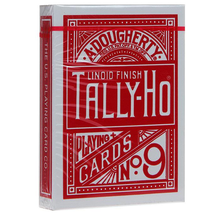 Карты игральные Bicycle Talli-Ho №9, цвет: красный, 54 карты. 9104к9104кИгральные карты Талли-Хо с рубашкой красного цвета подходят для игры в покер. Крупный индекс в двух углах. Карты имеют очень гладкую поверхность, высококачественный пластик и стандартный размер poker.